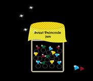Sweet daimonds jam Stock Photo