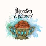 Sweet dates for Ramadan Kareem celebration. Royalty Free Stock Photo