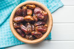 Sweet dates without stones. Royalty Free Stock Photos