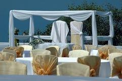 Sweet decoration. Wedding settings Stock Photos