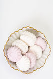 Sweet delicacy of marshmallows Stock Images