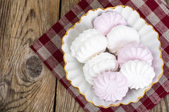 Sweet delicacy of marshmallows Stock Photos