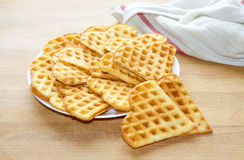 Sweet and Delicious Belgian Waffles. Sweet and Delicious Vanilla Belgian Waffles Royalty Free Stock Image