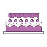 Sweet and delicious cake Royalty Free Stock Photo