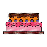 Sweet and delicious cake Royalty Free Stock Images