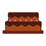 Sweet and delicious cake Stock Image