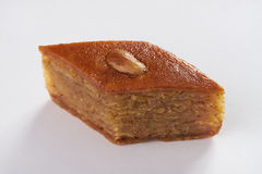 Sweet delicious dessert  baklava with walnuts and honey Stock Images