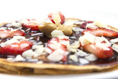 Sweet and delicious pancakes Stock Photography