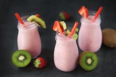 Sweet and delicious strawberry milkshake Stock Image