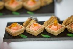 Sweet desert dish royalty free stock photography
