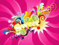 Sweet design Stock Images