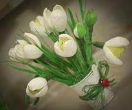 Sweet design, bouquet of candy, spring, snowdrop Royalty Free Stock Photos