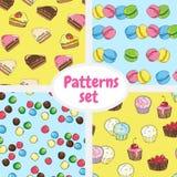 Sweet design set cards. pattern. Banner Royalty Free Stock Image