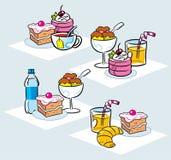 Sweet dessert stock illustration