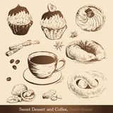 Sweet Dessert And Coffee Stock Images