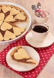 Sweet dessert with apple pie Stock Photo