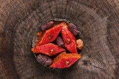 Sweet Dessert Baklava with hazelnut Stock Images
