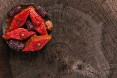 Sweet Dessert Baklava with hazelnut Stock Photo