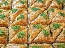 Dessert Baklava like background, Eastern Culture Stock Photo