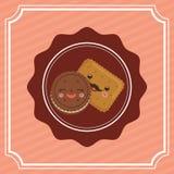 Sweet dessert cartoon. Icon vector illustration graphic design Stock Image