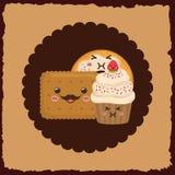 Sweet dessert cartoon. Icon vector illustration graphic design Royalty Free Stock Images