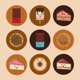 Sweet dessert cartoon. Icon vector illustration graphic design Royalty Free Stock Photography