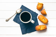 Sweet dessert and coffee cup Royalty Free Stock Images