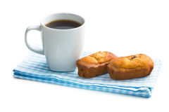 Sweet dessert and coffee cup Stock Image