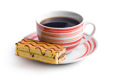 Sweet dessert with coffee mug Stock Image