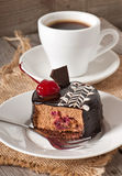 Sweet dessert and a cup of coffee Royalty Free Stock Image