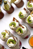 Sweet dessert decorated with kiwi Royalty Free Stock Images