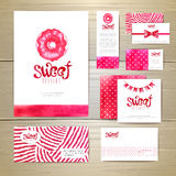 Sweet dessert document template design Stock Photography