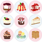 Sweet dessert icon  Royalty Free Stock Photography