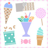 Sweet Dessert icons set great for any use, Vector EPS10. Royalty Free Stock Photo
