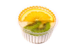 Sweet dessert with a kiwi and lemon Royalty Free Stock Images