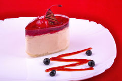 Sweet dessert at plate Royalty Free Stock Photo