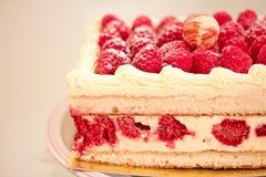 Sweet dessert: raspberry cheesecake Stock Photography