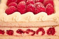 Sweet dessert: raspberry cheesecake Stock Photo