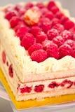 Sweet dessert: raspberry cheesecake Royalty Free Stock Photos