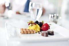 Sweet dessert at the restaurant Stock Photography