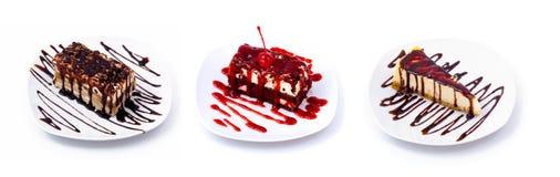 Sweet dessert set Stock Images