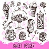 Sweet Dessert Set Royalty Free Stock Image
