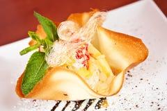 Sweet dessert in tartlet Stock Image