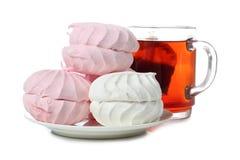 Sweet dessert and tea Stock Photos