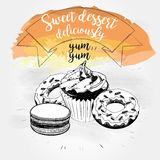Sweet dessert Vector illustration Stock Images
