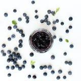 Sweet dessert of wild berries Stock Images