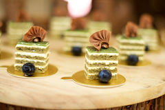 Sweet desserts with blueberries Royalty Free Stock Image