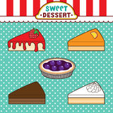Sweet desserts Stock Photography