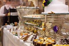 Sweet desserts furshet table Stock Photos