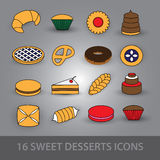 Sweet desserts icons eps10 Stock Photo